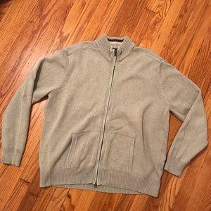 VAN HEUSEN studio XL zip cardigan sweater tan men